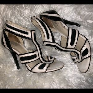 Bakers black and white sandal